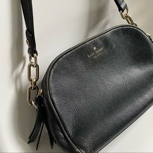 Kate Spade double zip leather bag w chain strap